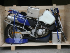 Yamaha TTR 600  Worldtravelbike  Sander on a single